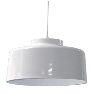 Dainolite Kup Pendant Light - 1-Light - 19.7-in x 10.5-in - Glossy White
