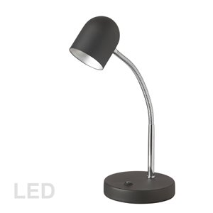 Dainolite Signature Desk Lamp - LED Light -  13.8-in - Black
