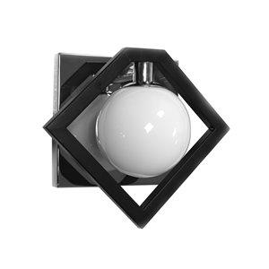 Dainolite Glasgow Wall Lamp - 1-Light - Matte Black and Chrome