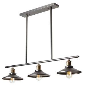 Dainolite Signature Pendant Light - 3-Light - 34-in x 6-in - Vintage Steel