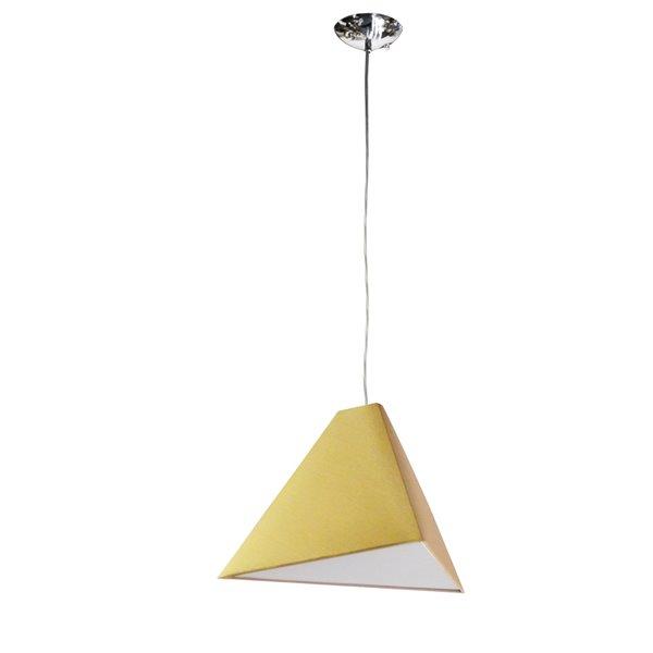 Luminaire suspendu Triangle de Dainolite, 1 lumière, 15 po x 12 po, or