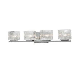 Dainolite Signature Vanity Light - 4-Light - 27.5-in - Polished Chrome