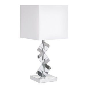 Lampe de table Signature de Dainolite, 1 lumière, 21 po, chrome poli