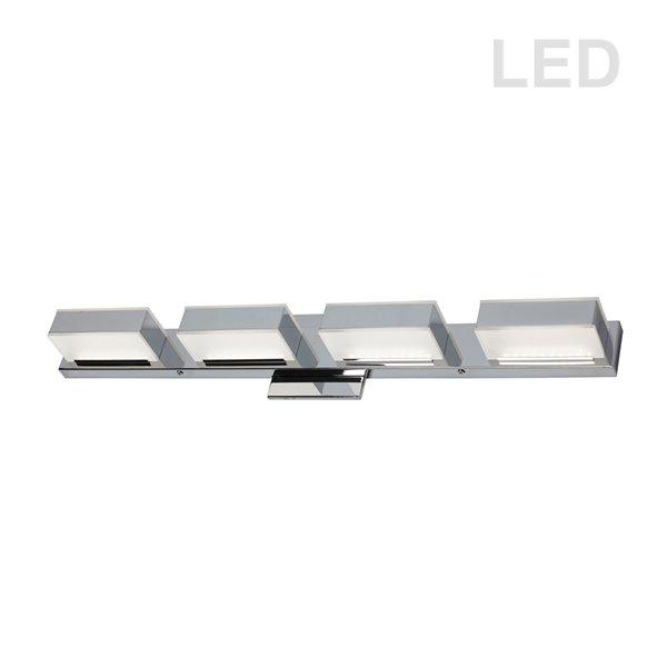 Luminaire pour meuble-lavabo Signature de Dainolite, 4 lumières DEL, 27 po, chrome poli