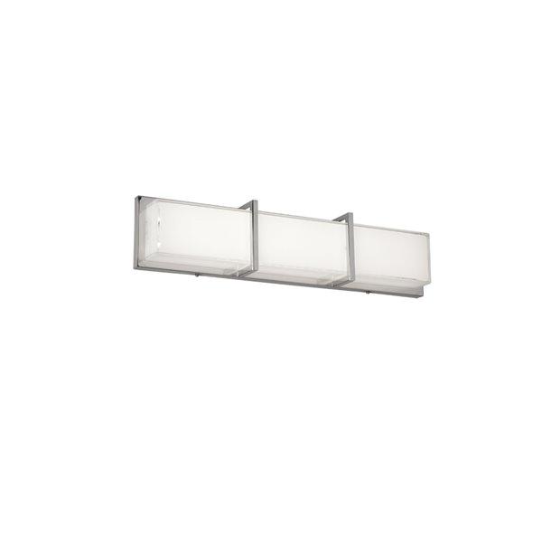 Dainolite Cased Glass LED Vanity Light - 1-Light - 24.2-in - White