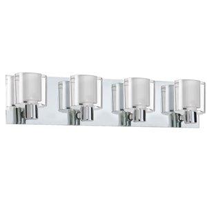 Luminaire pour meuble-lavabo Ellipse de Dainolite, 4 lumières, 26 po, chrome poli