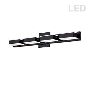Dainolite Signature LED Vanity Light - 4-Light - 26.7-in - Matte Black