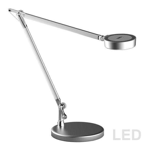 Dainolite Signature Adjustable  Desk Lamp - LED Light -  16.5-in - Silver