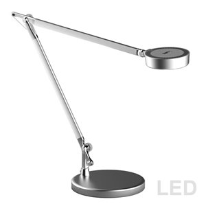 Dainolite Signature Adjustable  Desk Lamp - LED Light -  16.5-in - Silver