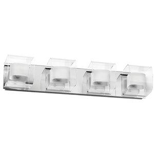 Dainolite Courtney Vanity Light - 4-Light - 6-in - Polished Chrome