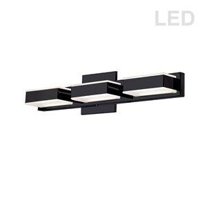 Luminaire pour meuble-lavabo Signature de Dainolite, 3 lumières DEL, 20 po, noir mat