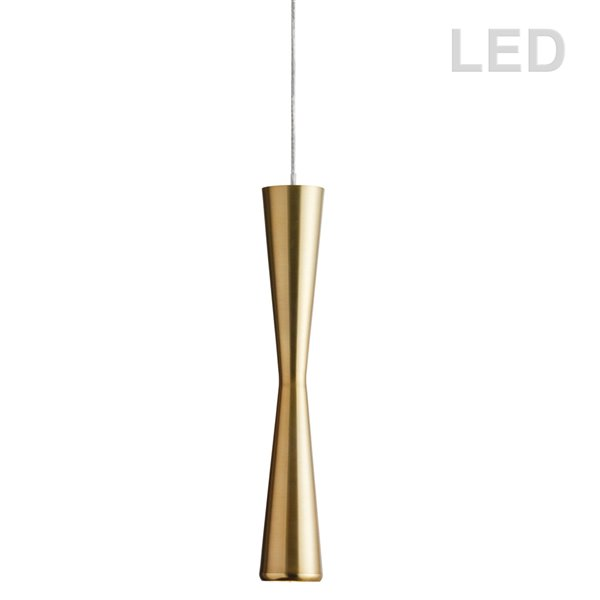 Dainolite Signature Pendant Light - 1-Light - 2-in x 12.25-in - Vintage Bronze