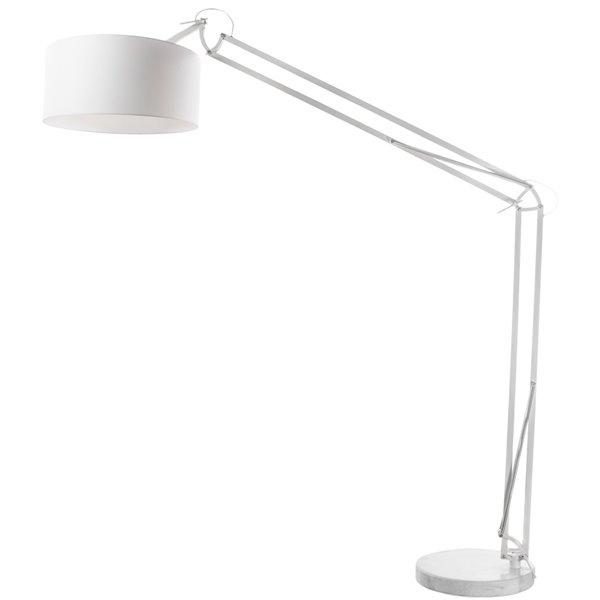 Lampe sur pied Adjustable de Dainolite, 1 lumière, blanc