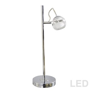 Dainolite Signature Desk Lamp - 19-in - Polished Chrome