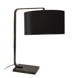 Dainolite Signature Table Lamp - 1-Light - 24-in - Black
