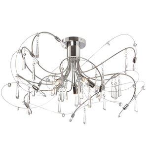 Dainolite Firefly Chandelier - 5-Light - 18-in - Chrome