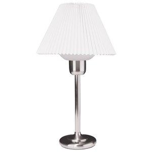 Lampe de table Signature de Dainolite, 1 lumière, 25 po, chrome satiné