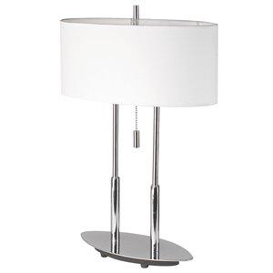 Dainolite Signature Table Lamp - 2-Light - 20-in - Polished Chrome