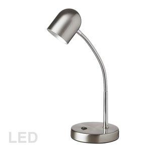 Lampe de bureau Signature de Dainolite, 13.8 po, chrome