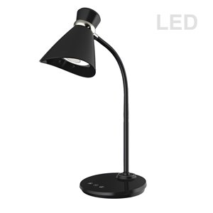 Dainolite Signature Desk Lamp - LED Light -  16-in - Black
