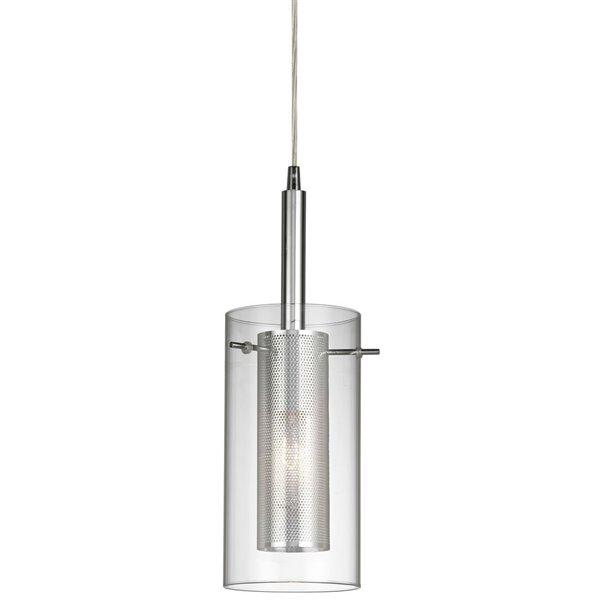 Luminaire suspendu Signature de Dainolite, 1 lumière, 6 po x 11 po, chrome poli