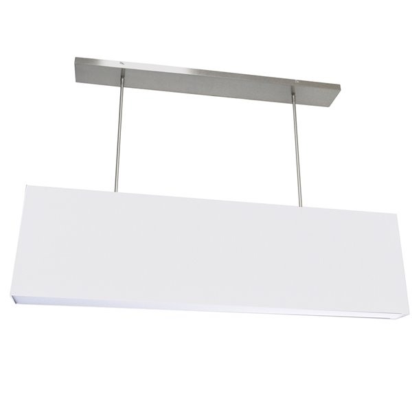 Dainolite Oversized Drum Pendant Light - 4-Light - 44-in x 12-in - White