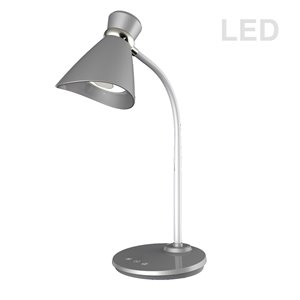 Dainolite Signature Desk Lamp - LED Light -  16-in - Silver