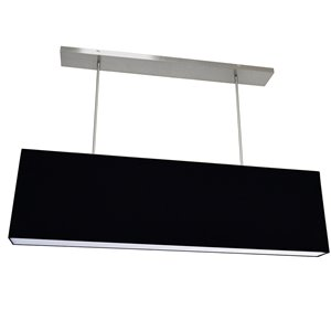 Dainolite Oversized Drum Pendant Light - 4-Light - 44-in x 12-in - Black