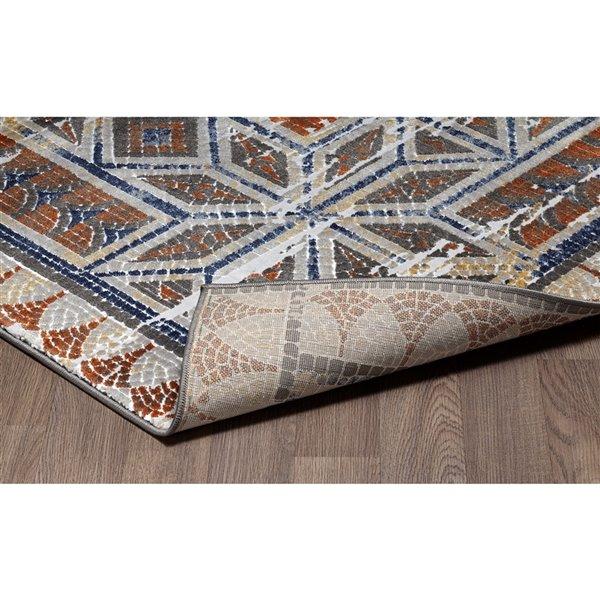 Tapis marocain vintage Viana, 5 pi 3 po x 7 pi 6 po, multicolore