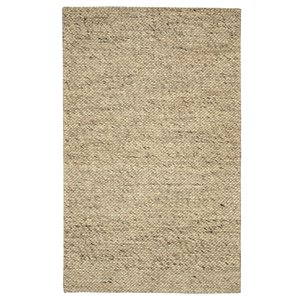 Tapis de laine moderne fait main Viana, 5 pi 3 po x 7 pi 6 po, marbre
