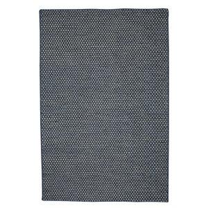Tapis de laine réversible fait main Viana, 5 pi 3 po x 7 pi 6 po, bleu