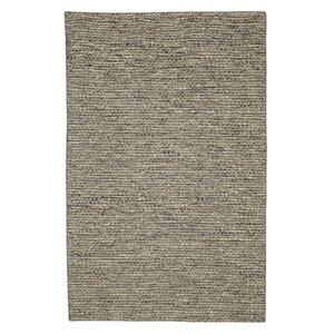 Tapis de laine réversible fait main Viana, 5 pi 3 po x 7 pi 6 po, marron naturel