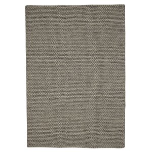 Viana Hand Made Reversible Wool Rug - 5-ft 3-in x 7-ft 6-in - Grey
