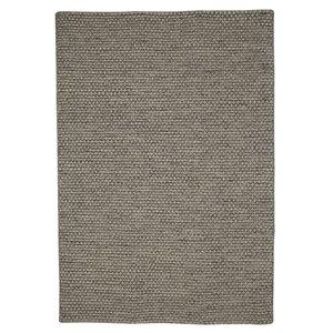Tapis de laine réversible fait main Viana, 5 pi 3 po x 7 pi 6 po, gris