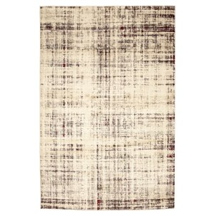 Viana Abstract Soft Rug - 5-ft 3-in x 7-ft 6-in - White Cream