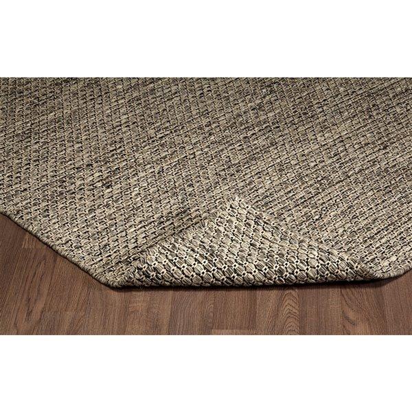 Tapis de laine réversible fait main Viana, 8 pi 3 po x 10 pi, marron naturel