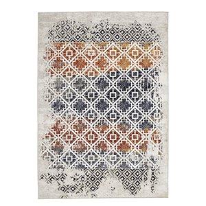 Tapis géométrique moderne Viana, 5 pi 3 po x 7 pi 6 po, multicolore