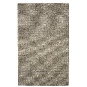 Viana Modern Handmade Chunky Wool Rug -  5-ft 3-in x 7-ft 6-in - Grey