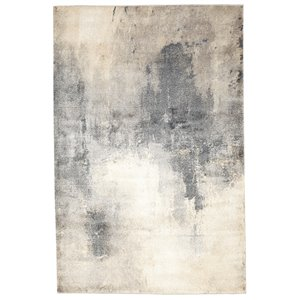 Viana Abstract Soft Rug - 5-ft 3-in x 7-ft 6-in - Light Blue and Light Beige