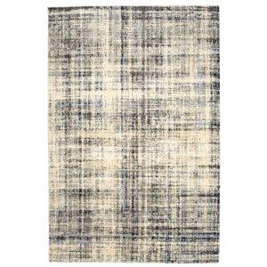 Tapis abstrait doux Viana, 8 pi 3 po x 10 pi, blanc bleuté