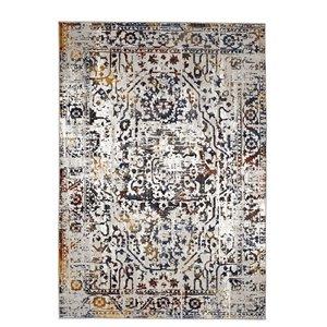 Tapis géométrique vintage de Viana, 8 pi 3 po x 10 pi, multicolore
