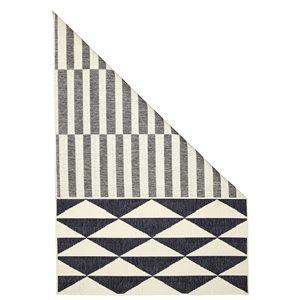 Tapis double face géométrique intérieur-extérieur Viana, 5 pi 2 po x 7 pi 7 po, multicolore
