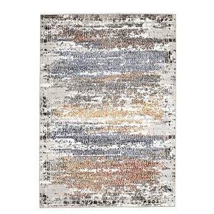 Tapis abstrait moderne Viana, 5 pi 3 po x 7 pi 6 po, multicolore