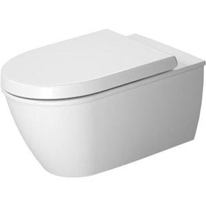 Toilette suspendue Duravit Darling-New, blanche, 14,38 po x 24,63 po