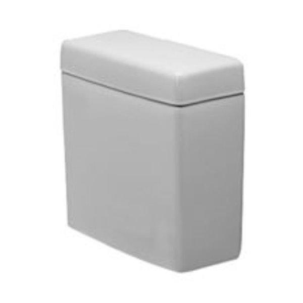 Duravit Happy D.2 Toilet Tank - Ceramic - 1.28gpf w/top centre flush lever - White