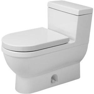 Toilette monopièce Happy D.2 Duravit, blanche, siège vendu séparément