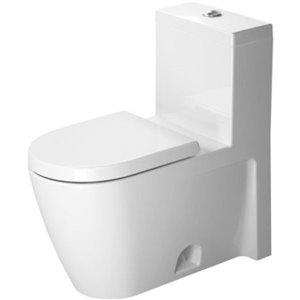 Toilette monopièce Starck 2 de Duravit, blanche, siège vendu séparément
