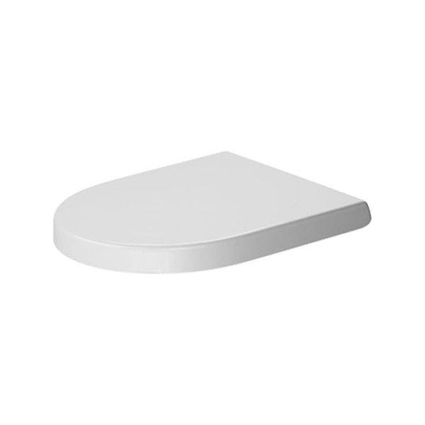 Siège de toilette Duravit série Various, fermeture lente, blanc