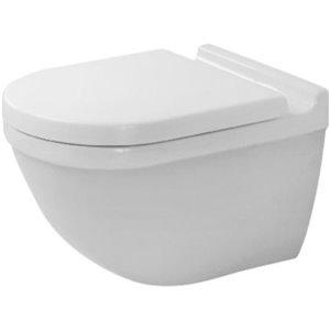 Toilette suspendue Duravit Starck 3, blanche, 14,38 po x 21,25 po