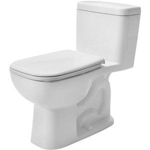 Toilette monopièce D-Code de Duravit, blanche, siège vendu séparément